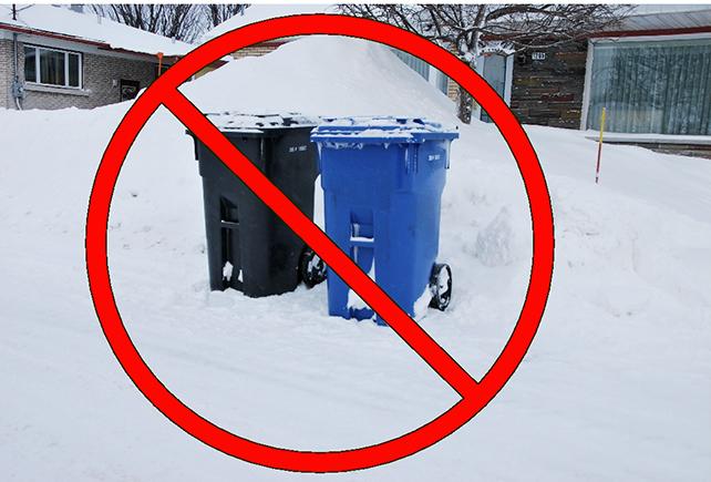 Bacs dans la neige interdits